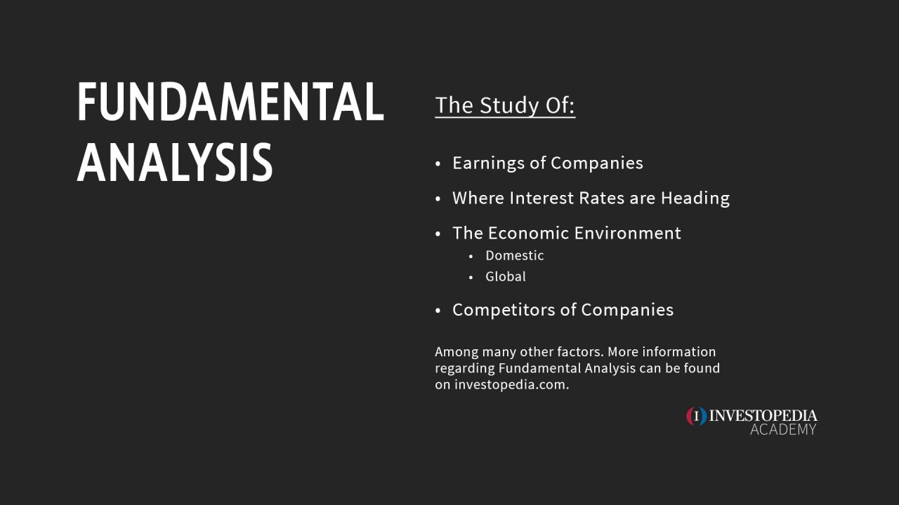 Intro #3 - Technical vs Fundamental Analysis